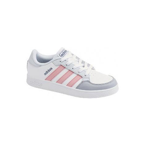 Bílo-šedé tenisky adidas Breaknet K