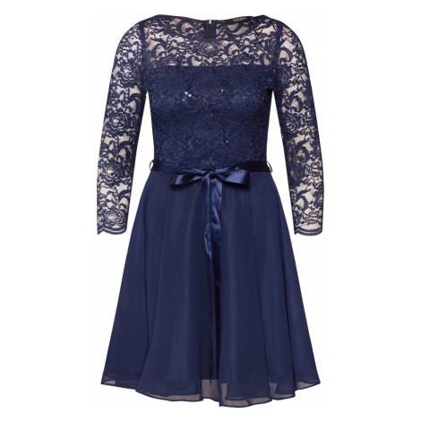 SWING Koktejlové šaty marine modrá