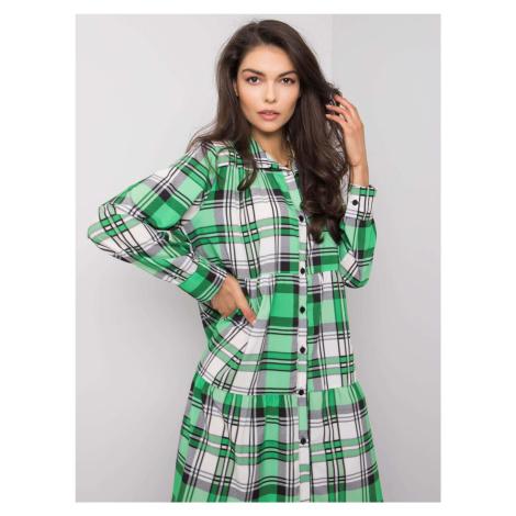 Zielono-biała sukienka oversize ONE SIZE FPrice