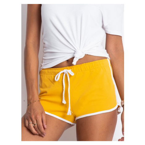 Dark yellow sweat shorts Fashionhunters