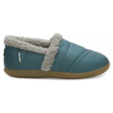 Stellar Blue Quilted Youth House Slipper Toms