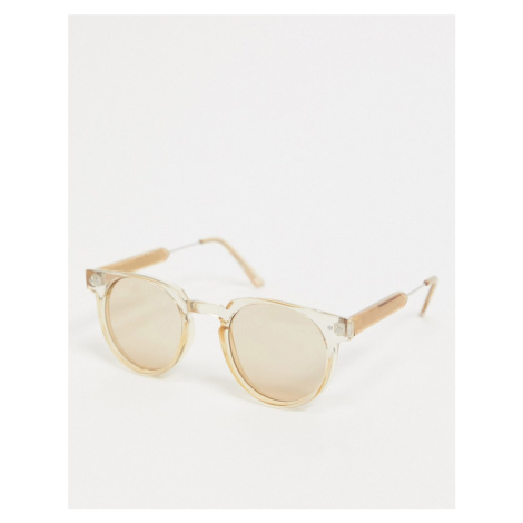 Spitfire Teddy Boy round sunglasses in tan-Brown