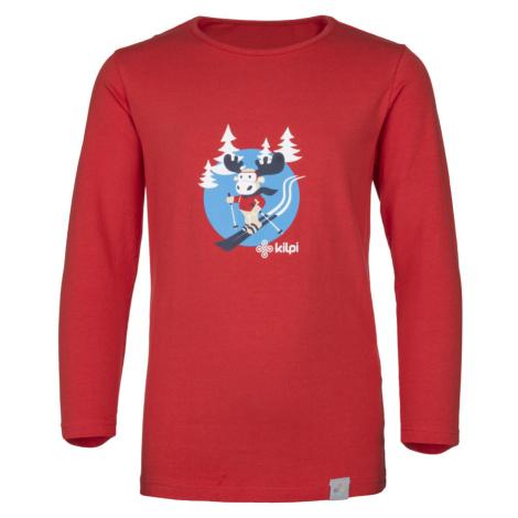 KILPI Dětské bavlněné tričko LERO-J JJ0081KIRED Červená