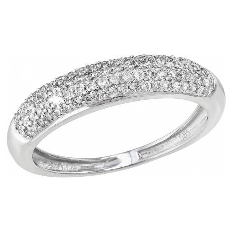 Evolution Group Zlatý prsten 85025.1 bílé zlato s brilianty
