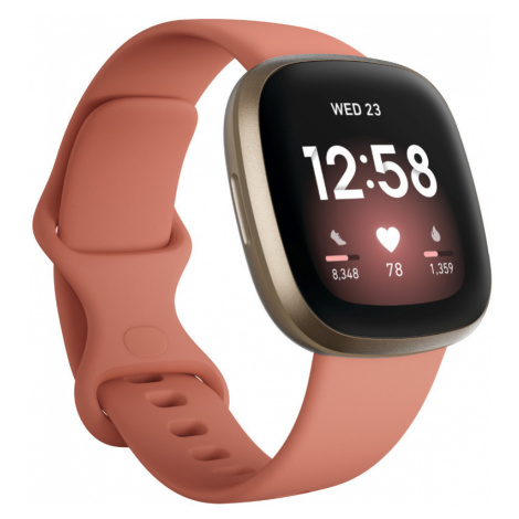 Chytré Hodinky Fitbit Versa 3 Pink Clay/soft Gold Aluminum