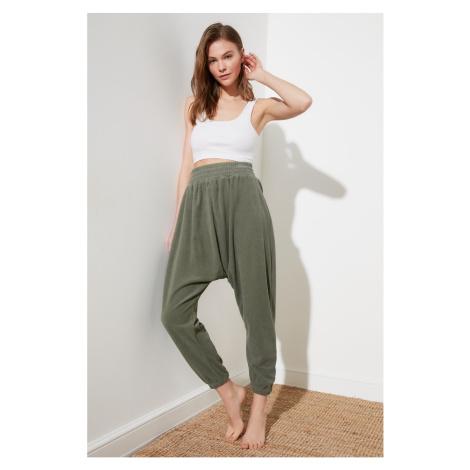 Trendyol Khaki Shawl Looking Harem Knitted Trousers