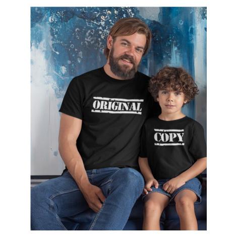 Rodinná trička pro tátu a syna Set Original a Copy BezvaTriko