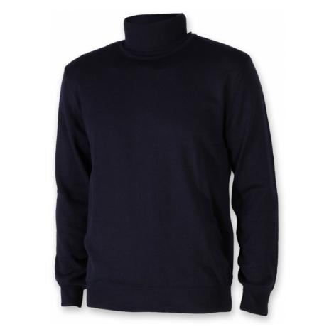 Pánský svetr s rolákem Willsoor 8622 ve tmavě modré barvě
