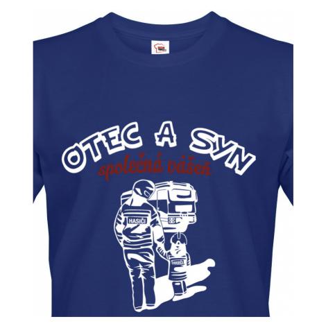 Triko pro hasiče - Otec a syn, společná vášeň - ideální triko k narozeninám BezvaTriko