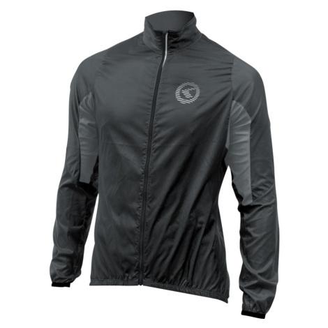 Unisex cyklistická bunda Kellys Windpack černo-šedá