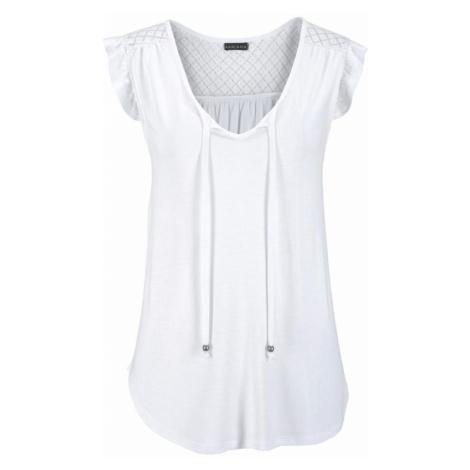 BUFFALO Tričko bílá