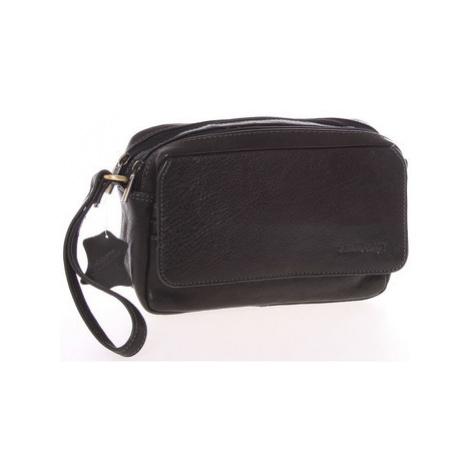 Sendidesign Pánské černé kožené etue - Sendi Design 52008 Černá