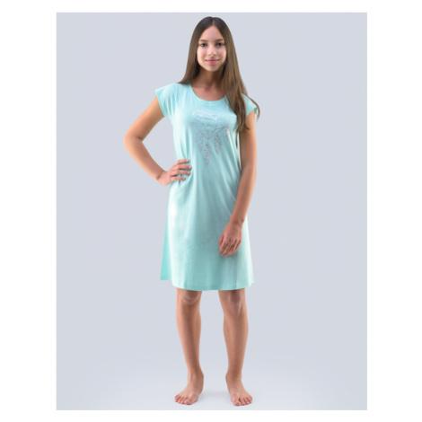 GINA Dívčí noční košilka 29000-LMZLMB peprmint-stříbrná