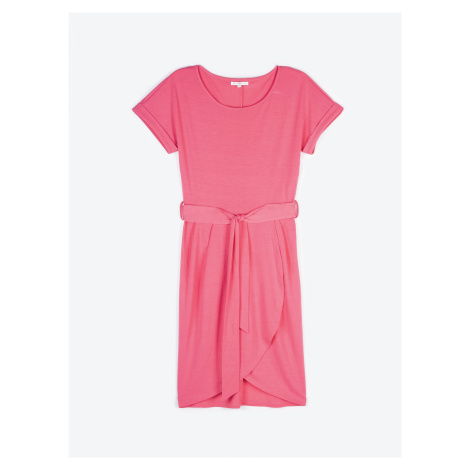 GATE Žerzejové šaty se zavinovací sukní