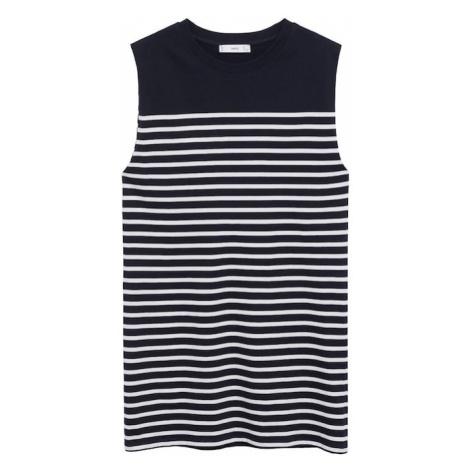 MANGO Šaty 'PICASA' námořnická modř / bílá