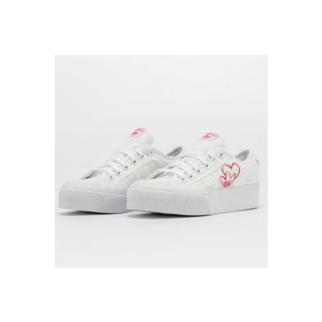 adidas Originals Nizza Platform W ftwwht / vivred / gumm2