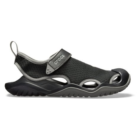 Crocs Swiftwater Mesh Deck Sandal M Black