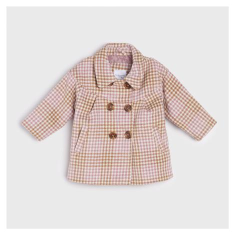 Sinsay - Dvouřadý kostkovaný kabát - Vícebarevná