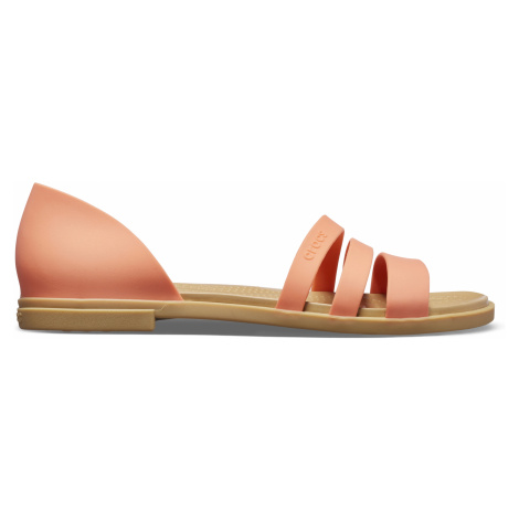Crocs Crocs Tulum Open Flat W Grapefruit/Tan W6