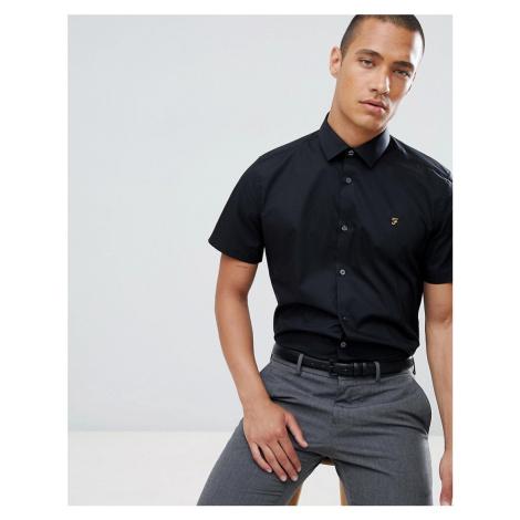 Farah slim short sleeve smart shirt - Black