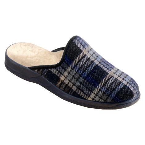 Blancheporte Pohodlné pánské pantofle námořnická modrá
