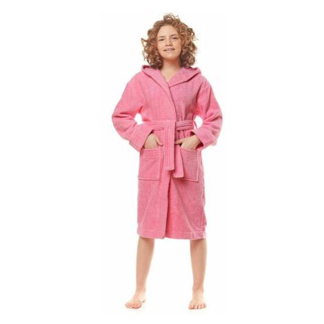 Dívčí froté župan Mona růžový L&L Collection