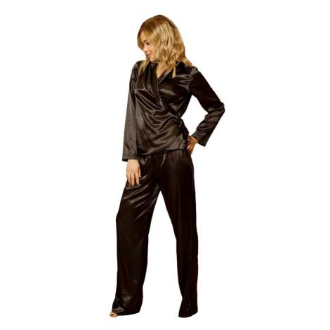 Saténové pyžamo Rawa černé Kalimo