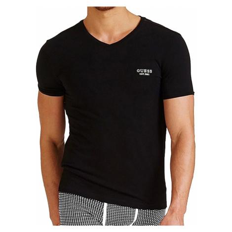 Guess pánské tričko U94M17 černé - Černá