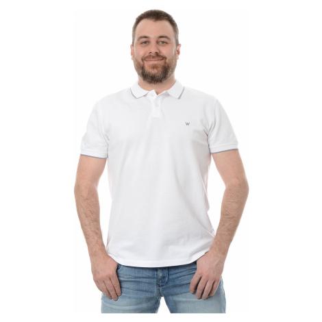 Polo triko Wrangler pánské bílé