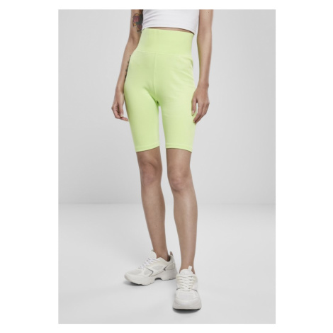 Ladies High Waist Cycle Shorts - electriclime Urban Classics