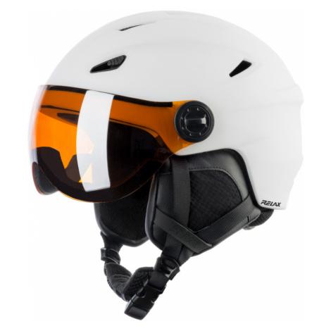 RELAX STEALTH Lyžařská helma RH24B bílá