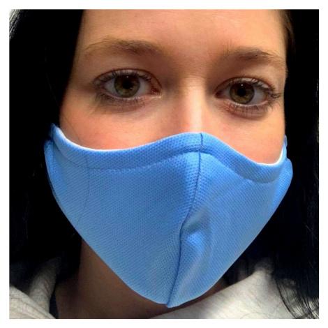NANO rouška FIX AG-TIVE 10F 99,9% (2-vrstvá s kapsou, fixací nosu a 10 filtry) Blankytná
