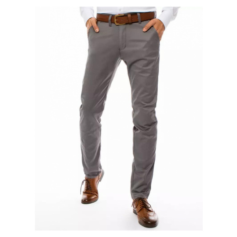 Dstreet Elegantní šedé kalhoty