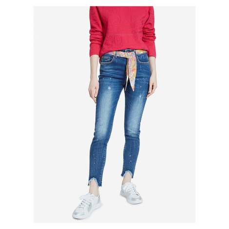 Denim Rainbow Jeans Desigual Modrá