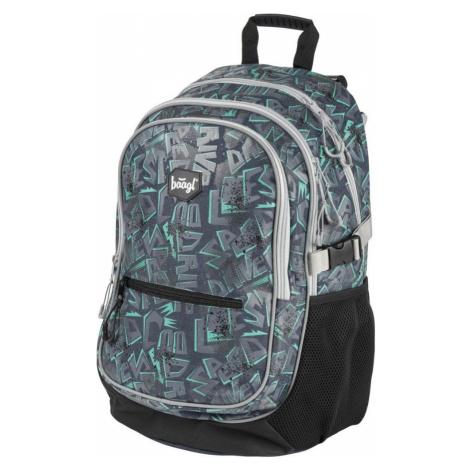 Šedý zipový školní batoh pro kluky Graeme Baagl