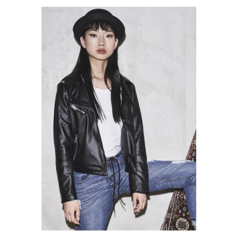 Ladies Faux Leather Biker Jacket Urban Classics
