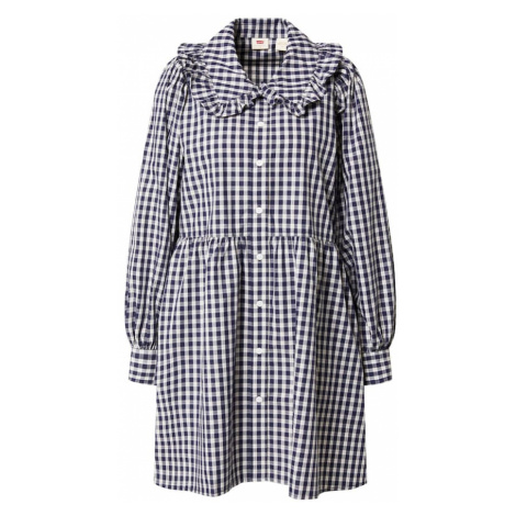 LEVI'S Košilové šaty 'MIRA' černá / bílá Levi´s