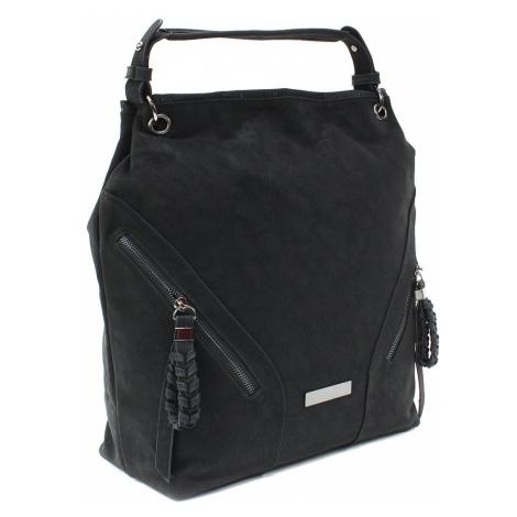 Černá velká dámská kabelka do ruky a přes rameno Creissant Lucky Queen (PL)