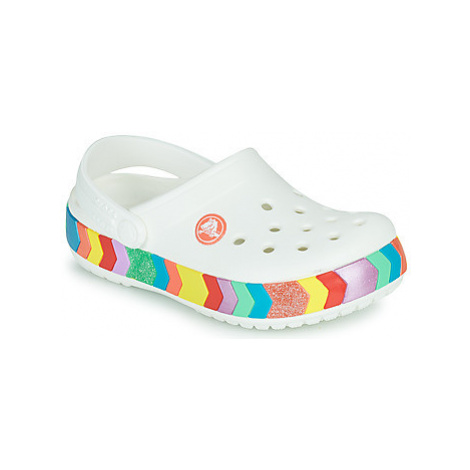 Crocs CROCBAND CHEVRON BEADED CLOG K Bílá