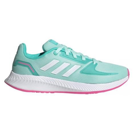 Dětská bežecká obuv adidas Runfalcon 2.0 Zelená / Růžová