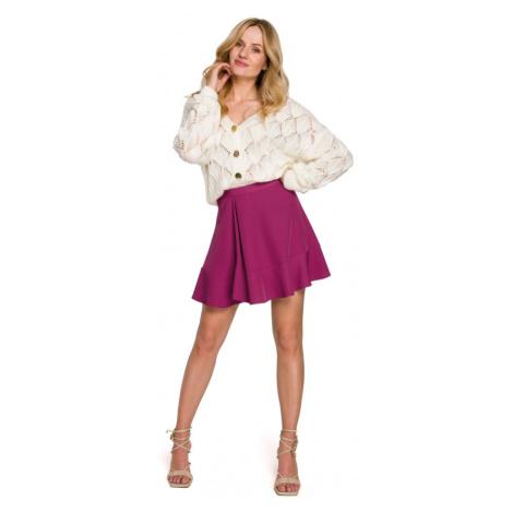 Mini sukně s volánky jednobarevná K100 Makeover