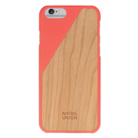 Kryt na iPhone 6 – Clic Wooden Coral Red Native Union