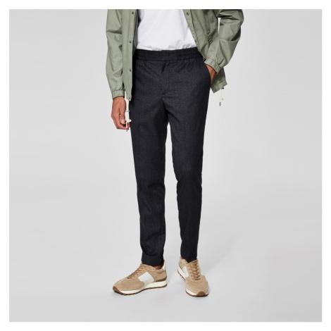 Černé kalhoty Tapered Selected