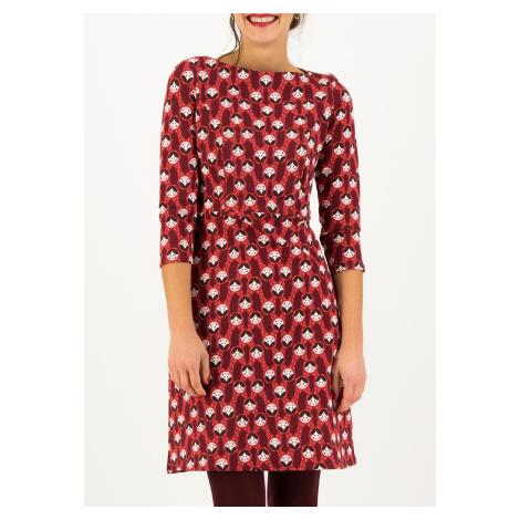 Bavlněné šaty s 3/4 rukávem červené Blutsgeschwister Home sweet