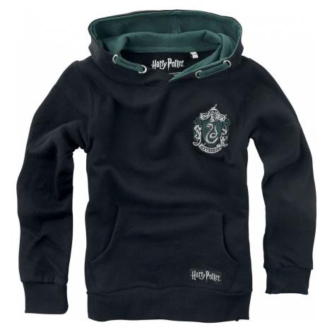 Harry Potter Slytherin detská mikina s kapucí černá