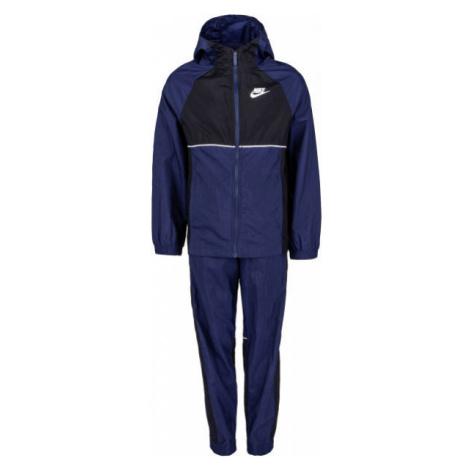 Nike NSW WOVEN TRACK SUIT tmavě modrá - Dětská souprava