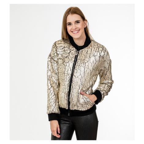 Zlatá zateplená bunda - PINKO