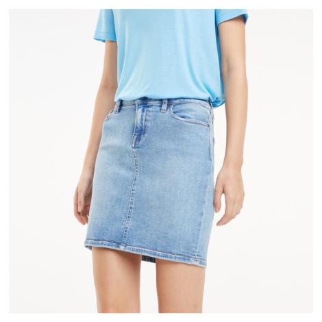 Tommy Hilfiger dámská světle modrá džínová sukně