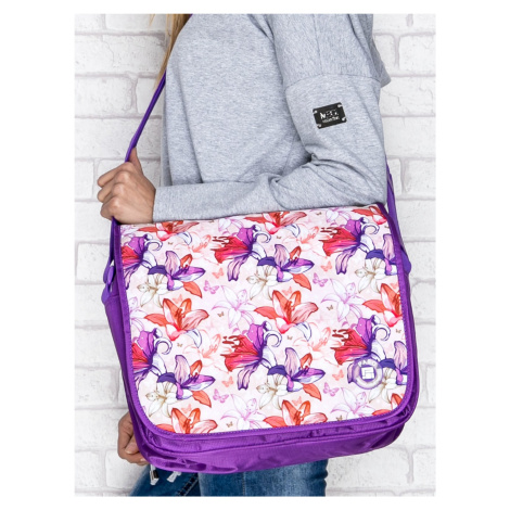 Květinová školní taška přes rameno FPrice