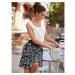 Blancheporte Dvoubarevná sukně s potiskem černá/bílá